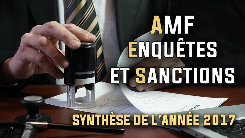 AMF enquêtes et sanctions en 2017