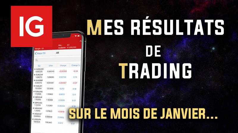 Mes résultats de trading en janvier avec IG