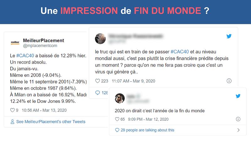 Des tweets d'investisseurs paniqués