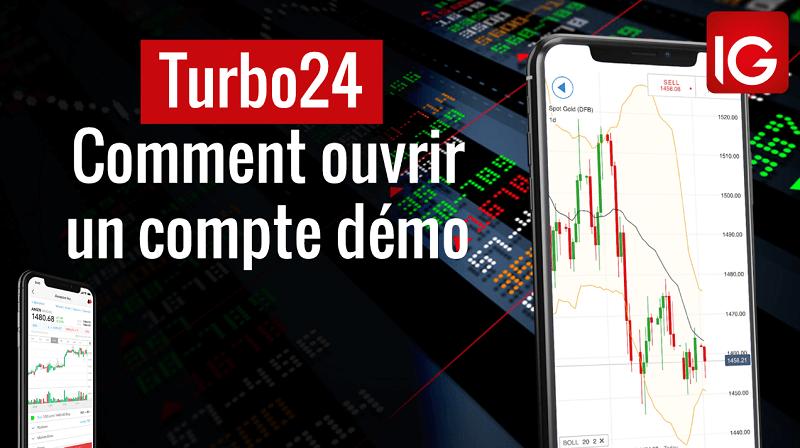 Turbo24 comment ouvrir un compte de démonstration