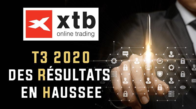 Les résultats du T3 2020 du courtier en ligne XTB