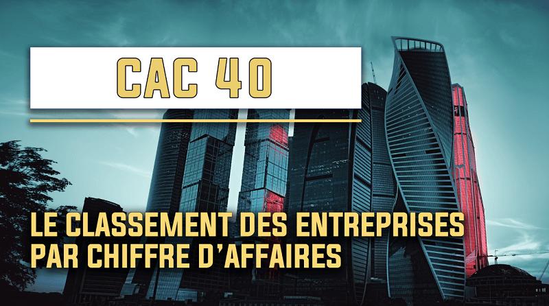 CAC 40 le classement des entreprises par chiffre d'affaires