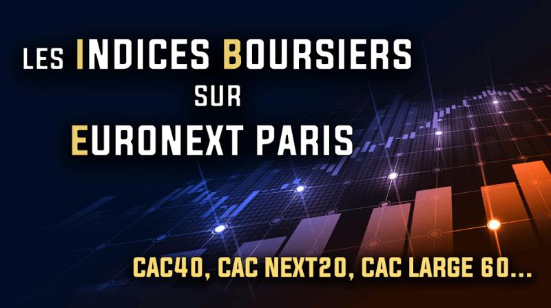 Les indices boursiers sur Euronext Paris