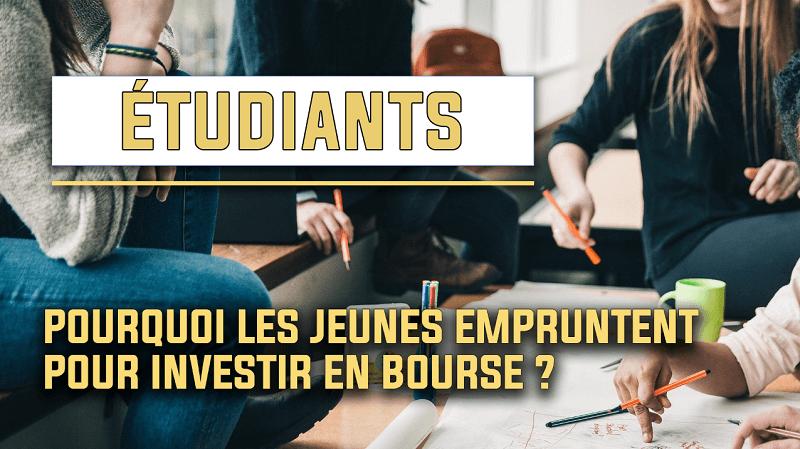 Emprunt étudiant, la solution pour investir en bourse