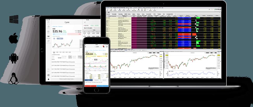 L'interface de la plateforme d'options du courtier Lynx Broker