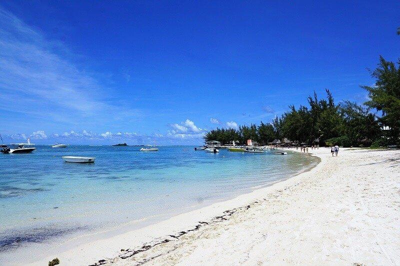 Une plage sur l'île Maurice