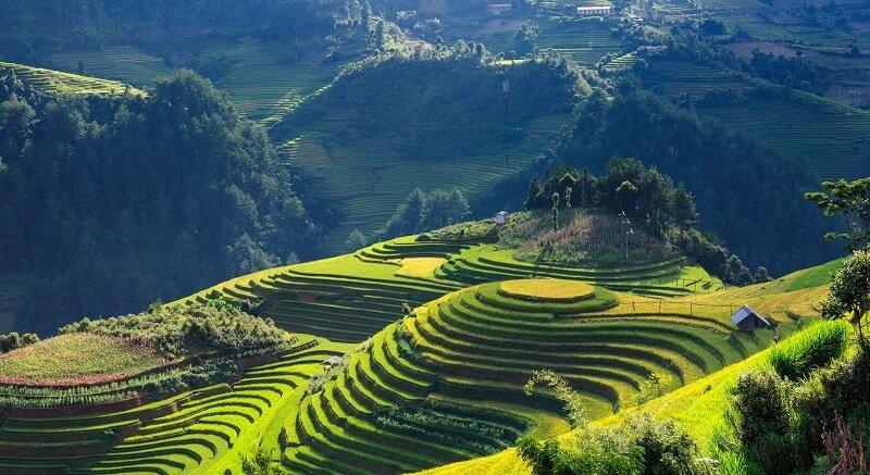 Une vue aérienne du Vietnam